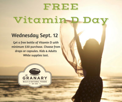 FREE Vitamin D Day